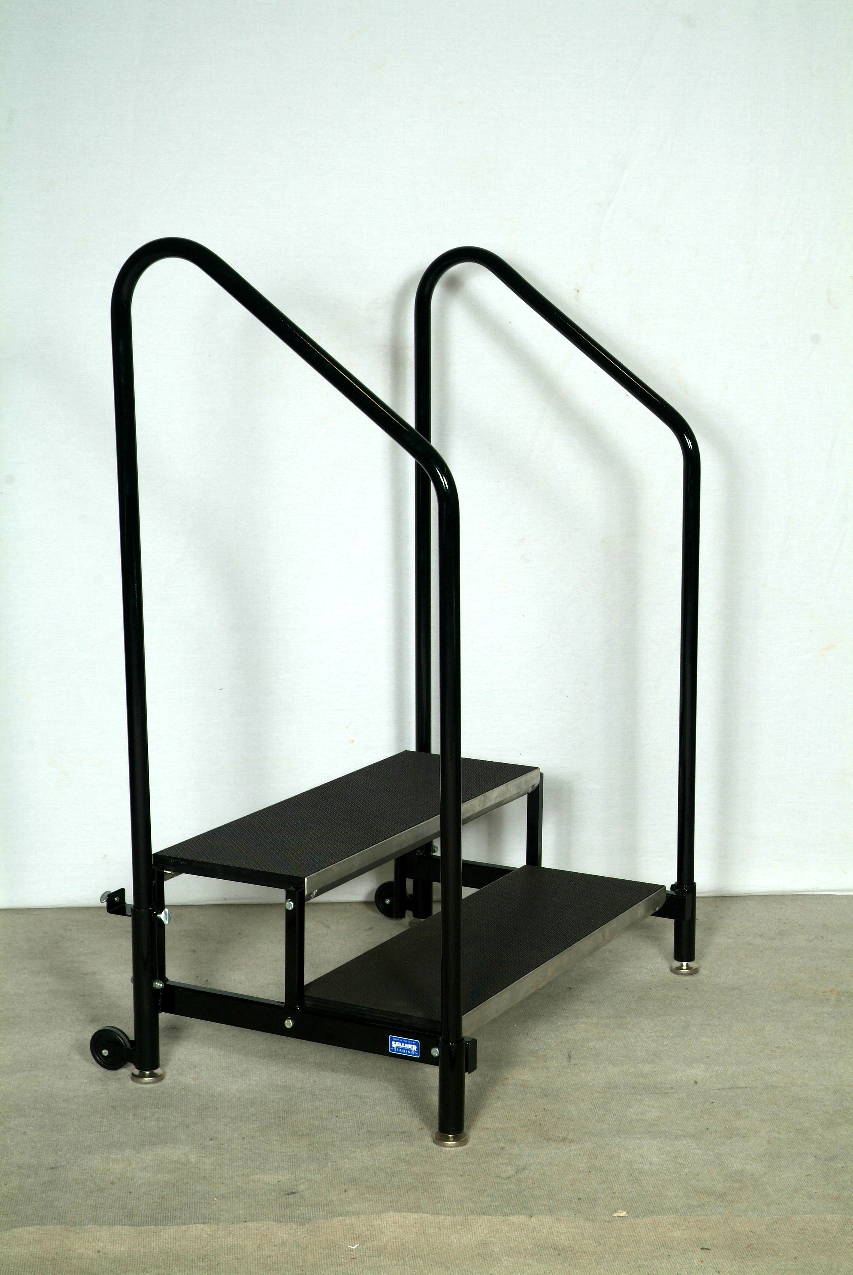 Portable Stage Steps With Handrails : Stair units